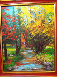 october by jody vitarelli in acrylic on stretched canvas painted from a photograph for my father ken hovis born on oct
