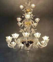 venetian murano chandelier three levels 20 arms of light