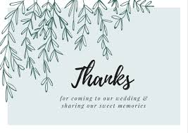Wedding Thank You Notes Printable Wedding Thank You Cards Thank You Note Wording