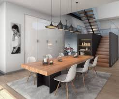 this open dining room takes advantage of high ceilings and an airy floor plan in its cool amazing dining room table
