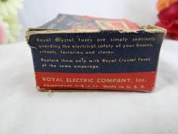 vintage amp fuse box wiring library vintage 1940s royal crystal fuses box car memorabilia