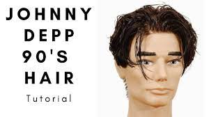 Johnny Depp 90's Hairstyle Tutorial - TheSalonGuy - YouTube