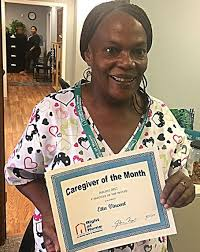 Previous Caregivers of the Month Recipients | Right at Home | Morris Union,  NJ