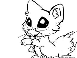 Cute Animals Coloring Pages Little Animal