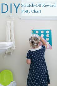 How To Make A Reward Chart For Potty Training Diy Scratch Off Reward Potty Chart Babble