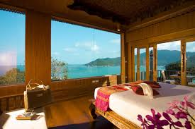 Ocean Wallpaper For Bedroom Beautiful Beach View Villa Ocean Bedroom Hd Wallpaper