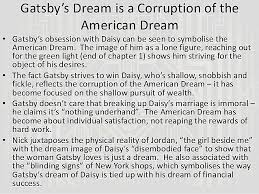 The Great Gatsby Quotes American Dream