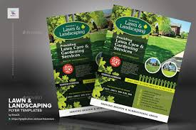 landscaping templates free lawn landscaping flyer templates
