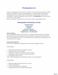 Photographer Resume Objective Photography Cover Letters Gallery Cover Letter Sample 23