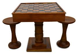 megachess teak giant chess table chairs with 4 inch squares