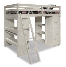 com canwood skyway loft bed with desk and storage tower twin white baby
