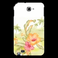 """Чехол для Samsung Galaxy Note """"<b>Тропические цветы</b>, <b>пальмы</b> ..."""