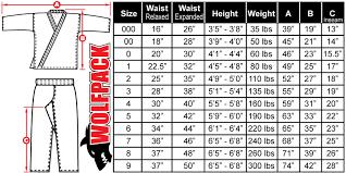 Karate Uniform Size Chart 12oz Heavyweight Traditional Uniform Set Black