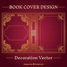ornamental book cover design free vector by freepik