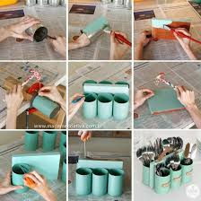 diy silverware caddy rustic home decor projects