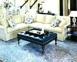 navy blue tufted ottoman coffee table leather velvet