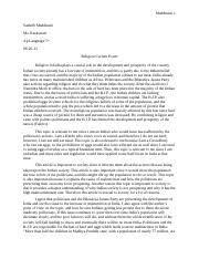 honor code essay maddineni sanhith maddineni ms rackstraw ap  3 pages religion essay