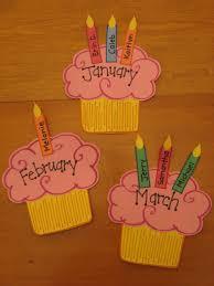 Ideas To Make Birthday Charts For Classroom Cupcake Birthday Wall Preschool Kindergarten Bulletin