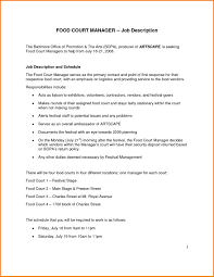 Samples Of Resumes For Managers In Fast Food Perfect Resume Format