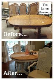 Homemade Dining Room Table Unique Vintage Dining Table And Chairs Transformation The Rustic Boxwood