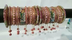 Bridal Bangle Set Designs Bridal Bangles Set With Name And Hangings Dulhan Chura