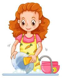 boy washing dishes clipart. Interesting Clipart Beautiful Woman Washing Dishes On A White Background Illustration Intended Boy Washing Dishes Clipart D