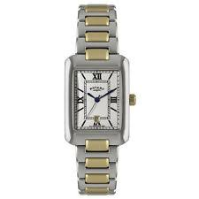 mens rotary watch two tone mens rotary rectangular dial two tone bracelet watch gb02651 01