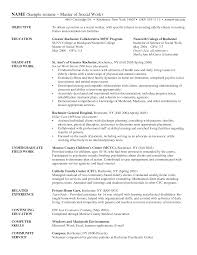 Free Work Resume Surprisingles Of Social Work Resumes Free Sample Professional For 44