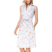 Maison Jules Size Chart Maison Jules Fish Print Shirtdress Dresses Apparel