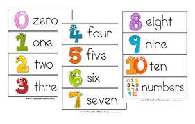 Flashcards Template Word Kindergarten Printable Numbers Flashcards Download Them Or Print