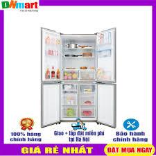 Tủ lạnh Aqua 4 cửa màu đen lấy nước ngoài AQR-IGW525EM(GB)
