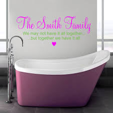 bathroom bathroom wall decals family quotes design with puple and lime green color on the on lime green bathroom wall decor with 17 decorative bathroom wall decals keribrownhomes