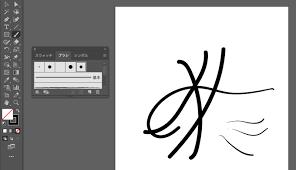 Illustrator初心者ワコムペンタブの筆圧設定をイラレでしてみた