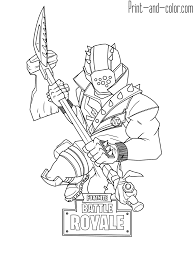 Fortnite Coloring Pages Weapons Rifle Scar Various