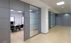 Office Partition Design Hot Item 2019 Free Design Factory Frosted Glass Wall Partition Aluminium Profile Wood Partition Doors For Modern Office