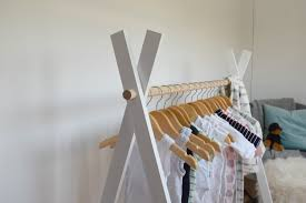 Coat Rack Sydney Impressive DIY Kids Teepee Clothing Rack