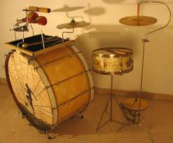Cool stuff they used to paint on bass drum heads in the and