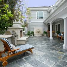 outdoor stone tiles patio