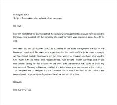 Letters Of Termination Sample Employee Termination Letter Template ...