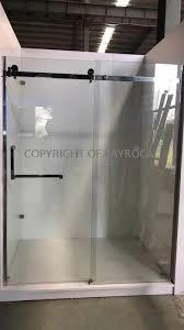 bypass frameless double sliding shower