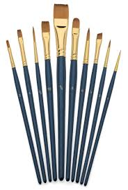 makeup brushes art. amazon.com: art brush set-watercolor and acrylic artist paint brushes-short handle-hobby painting-paint by numbers-ceramics-face painting: everything else makeup brushes