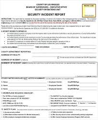 Incident Reports In Hse Download Report Form Security