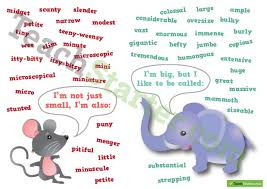 Small Picture Other words for SmallBig Synonym Poster