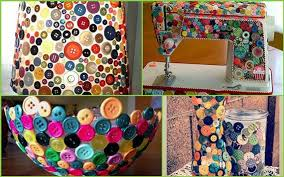 Creative Button Ideas Decorating home objects