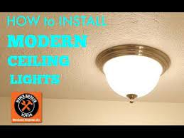 modern ceiling lights how to install