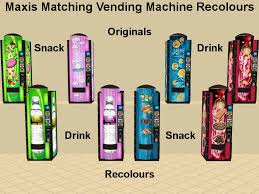 Vending Machine Mod Beauteous Mod The Sims Colour Matching Vending Machines