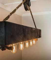 wood beam chandelier rustic wood lighting unique rustic wood beam chandelier with bulbs rope and pulley wood beam chandelier reclaimed