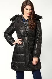 Fashion Women's Coat 2017 | Coat See - Part 730 & Boohoo Sandra Long Quilted Coat With Fur Hood In Black Adamdwight.com