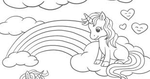 It looks like a horse with a single horn protruding from its head. Unicorn Printable