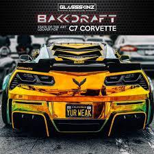 2014 19 C7 Corvette Bakkdraft Rear Window Valance Louver